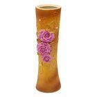 """Ваза """"Марика-Росса"""" большая, роза с бусиной, розово-коричневая"""