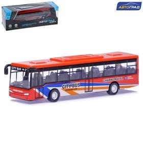 Автобус металлический «Междугородний», инерционный, масштаб 1:43, МИКС