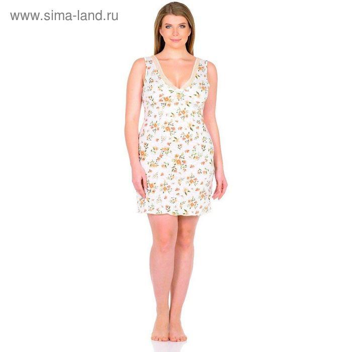 """Сорочка женская """"Весна"""", размер 46, цвет белый ВС1063"""
