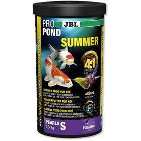 JBL ProPond Summer основной летний корм, плавучие гранулы для карпов кои небольшого размера, 0,34 кг (1 л)