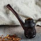"""Трубка курительная """"Мужик"""" малая, темная"""