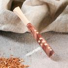Мудштук деревянный резной, 10 см, d=8,5 мм