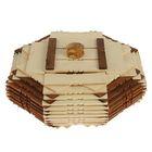 Конфетница квадратная с крышкой, деревянная