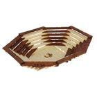 Корзинка-хлебница деревянная, овальная
