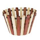 Корзинка деревянная, двухцветная
