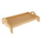 Поднос деревянный с ручками, массив бука, 52 х 33 см