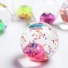 """Мяч световой """"Бабочка"""" с водой 5,5 см, цвета МИКС"""