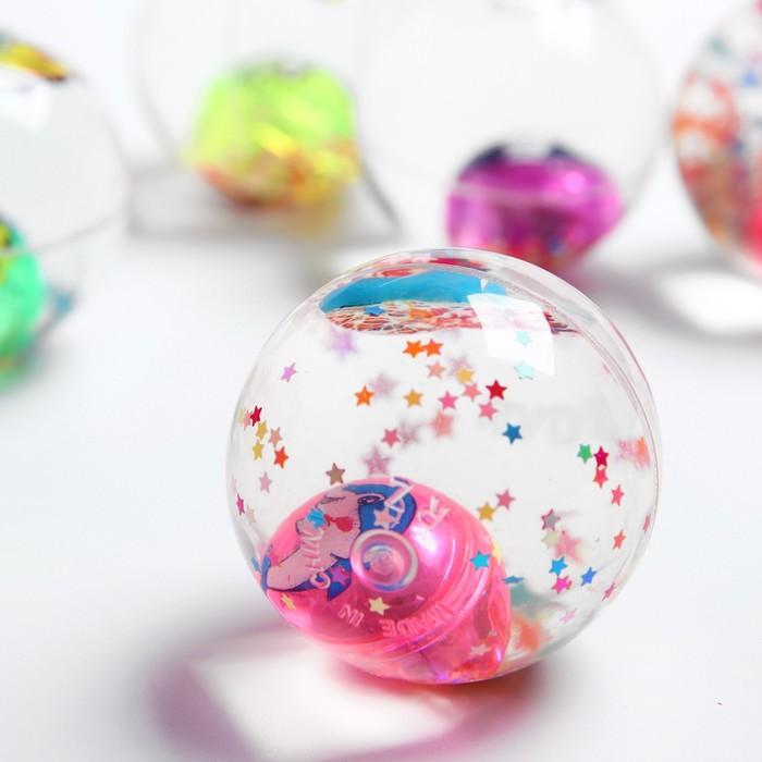 Мяч световой «Бабочка», с водой 5,5 см, цвета МИКС