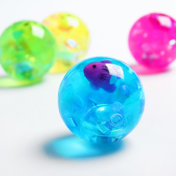 Мяч световой «Рыбка», с водой 5,5 см, цвета МИКС