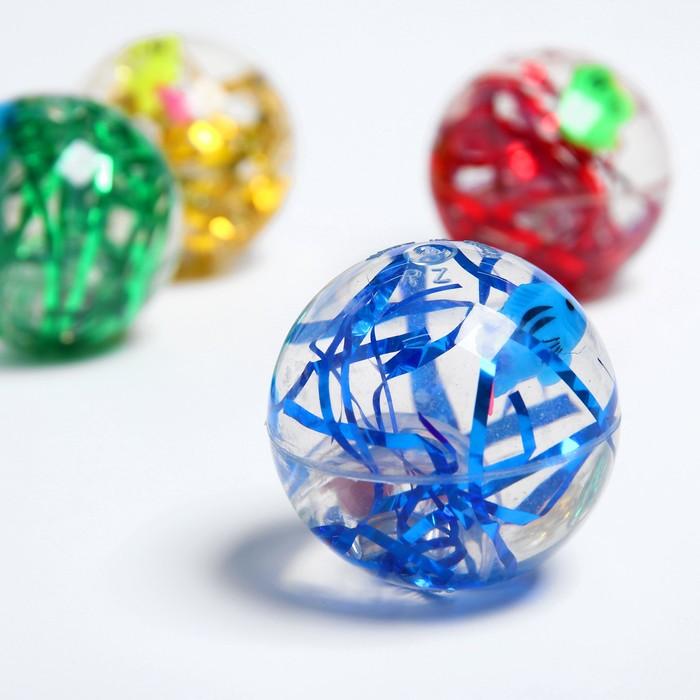 Мяч световой «Рыбка», с водой, 5,5см, цвета МИКС