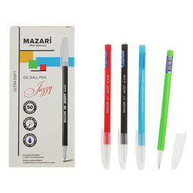Ручка шариковая Jazzy Ultra Soft, узел 0.7мм, чернила синие, игольчатый пишущий узел, микс Ош