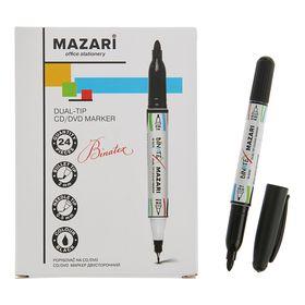 Mаркер Mazari для CD/DVD 2.0, Binatex, цвет чёрный, двухсторонний, М-5010