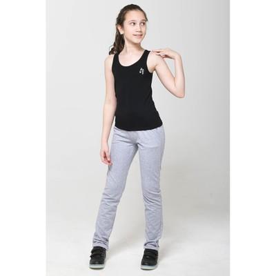 Майка для девочки, рост 146 см, цвет чёрный
