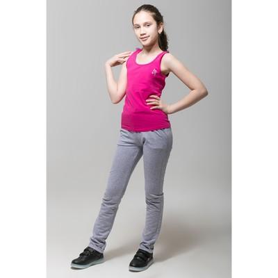 Майка для девочки, рост 128 см, цвет фуксия