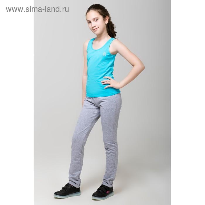 Майка для девочки, рост 146 см, цвет бирюзовый