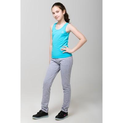 Майка для девочки, рост 158 см, цвет бирюзовый