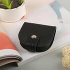 Портмоне мужское на кнопке, 1 отдел, монетница, цвет чёрный