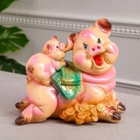 """Копилка """"Свинка мама"""", глянец, разноцветная, 27 см"""