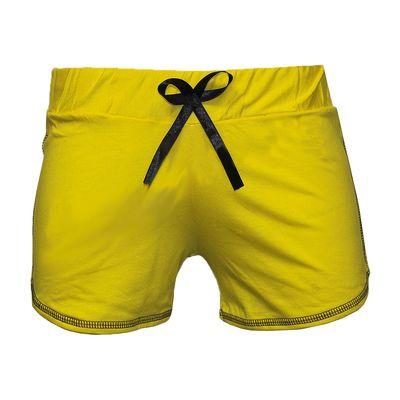 Шорты женские, цвет жёлтый, размер 46