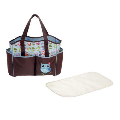Сумка для мамы и малыша «Совёнок», с ковриком для пеленания, цвета МИКС