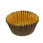 Тарталетка Royal, форма круг, коричнево-золотая, 3,5 х 2 см
