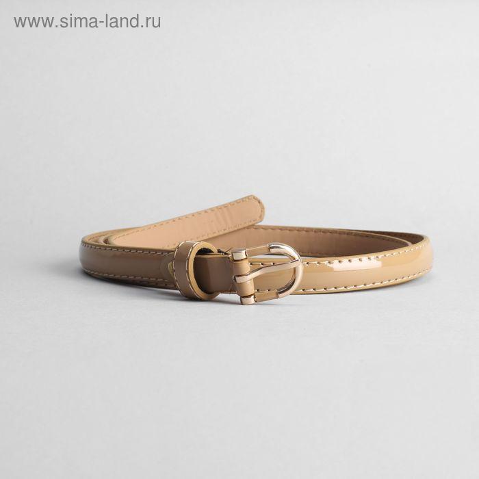 Ремень женский, ширина 1.5 см, винт, пряжка золото, цвет хаки