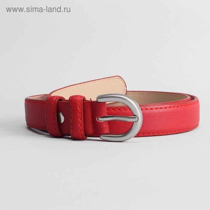 Ремень женский, ширина 2.5 см, винт, цвет красный