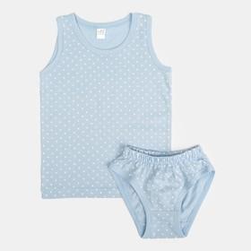 Комплект для девочки (трусы, майка), рост 98-104 см, цвет МИКС 10655