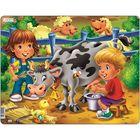 "Пазл ""Дети на ферме. Корова"", 18 деталей (BM5)"