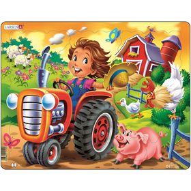 Пазл «Дети на ферме. Трактор», 15 деталей (BM7)