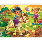 """Пазл """"Дети на ферме. Пони"""", 16 деталей (BM8)"""