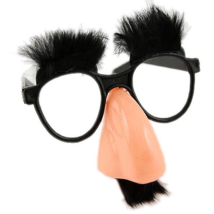Очки-маска с бровями и усами