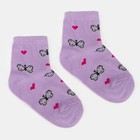 """Children's socks """", Economia"""" Butterflies, size 14 (3-4 years), color lilac"""