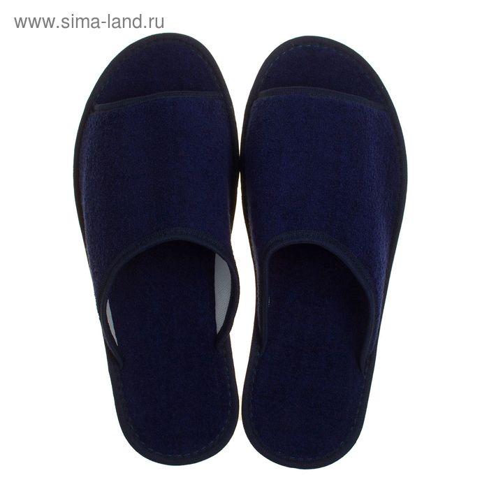 Тапочки мужские, цвет синий, размер 43