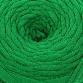 Knitted yarn wide 50m / 160g, thread width 7-9 mm (green) MIX