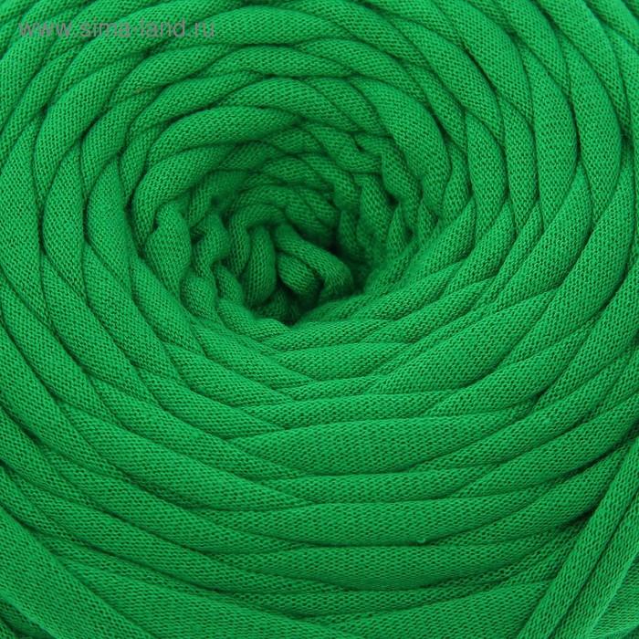 Пряжа трикотажная широкая 50м/160гр, ширина нити 7-9 мм  (зелёный)  МИКС