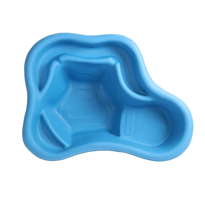 Пруд садовый пластиковый, 135 л, синий