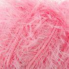 """Пряжа """"Травка с метанитом"""" 90% полиэстер, 10% метанит 115м/100гр (2000 розовый)"""