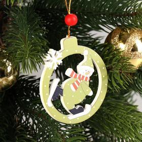 Подвеска новогодняя «Забавный снеговик», МИКС в Донецке