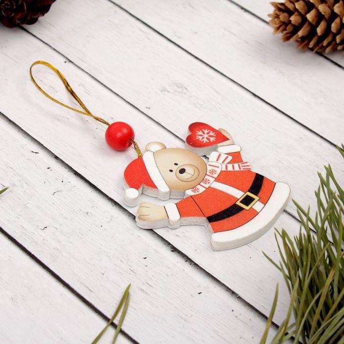 """Подвеска новогодняя """"Мишка с сердцем"""""""