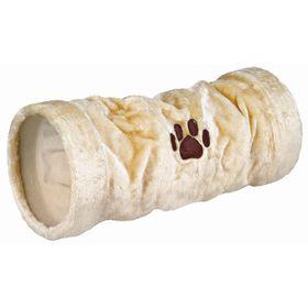 Тоннель Trixie для кошки, плюш, 60 см / ø 22 см, беж. Ош