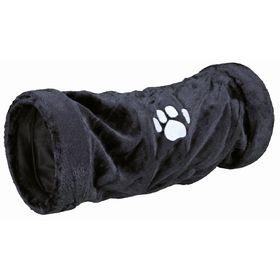 Тоннель Trixie для кошки, плюш, 60 см / ø 22 см, антрацит. Ош