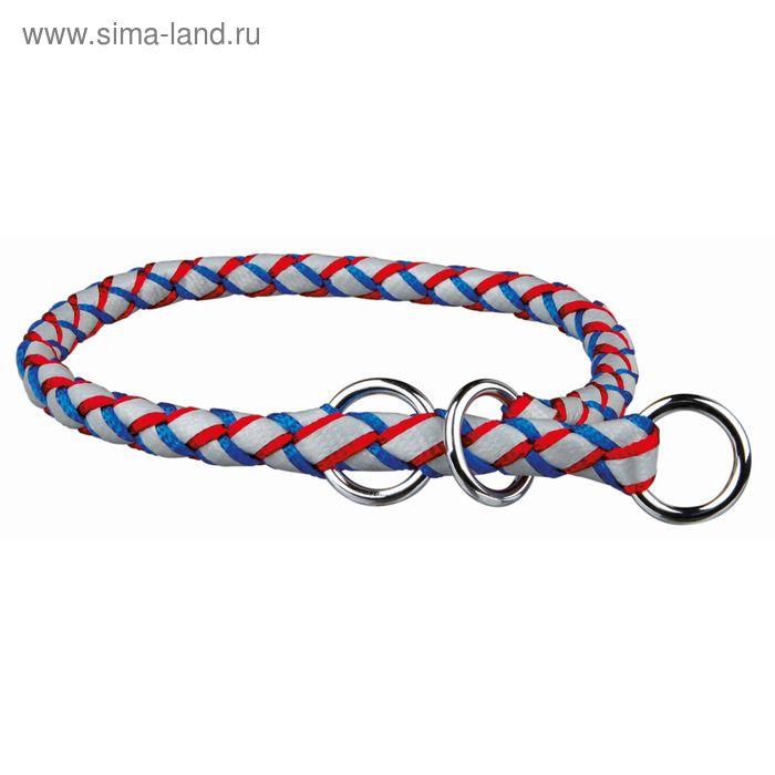 Ошейник-удавка Trixie Cavo Reflect S–M, 35–41 см/ф 12 мм, синий/красный