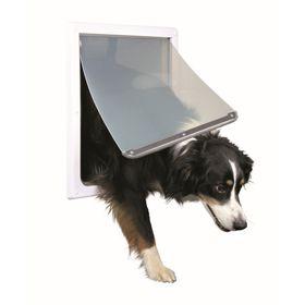 Дверца Trixie для собак, 2 функции,   ,30,8х38см, пластик, белый.