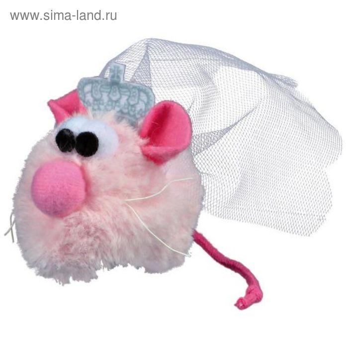 """Игрушка для кошки Trixie """"Мышь-невеста Princess"""", 5 см, плюш, розовый"""