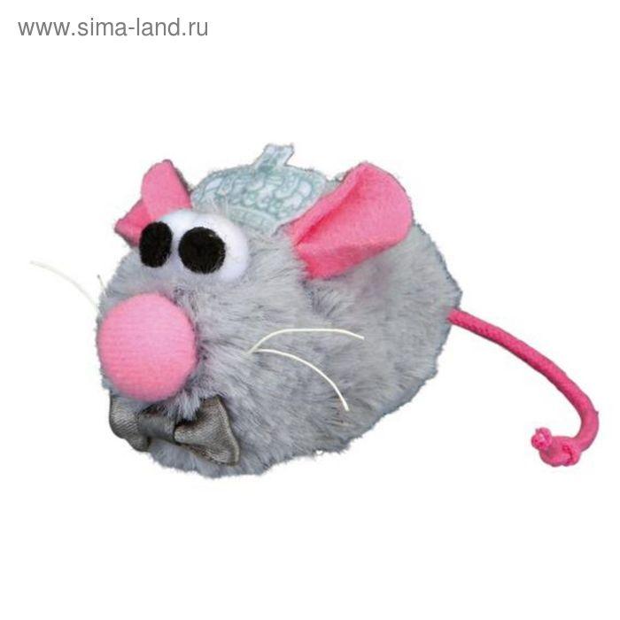 """Игрушка для кошки Trixie """"Мышь-жених Prince"""", 5 см, плюш, серый"""