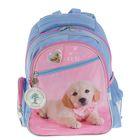 Рюкзак школьный Rachael Hale 520 R, 38 х 29 х 13 см, голубой/розовый
