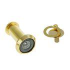 Глазок дверной, тип 1, L= 35-60 мм, d=14 мм, со шторкой, цвет золото