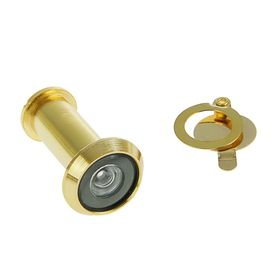 The peephole door, type 1, L= 35-60 mm, d=14 mm, with a shutter, the color of gold
