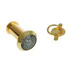 Глазок дверной, тип 2, L= 35-60 мм, d=16 мм, со шторкой, цвет золото